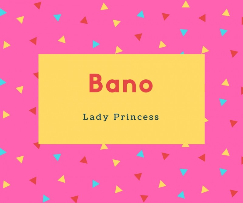 what is bano name meaning in urdu bano meaning is