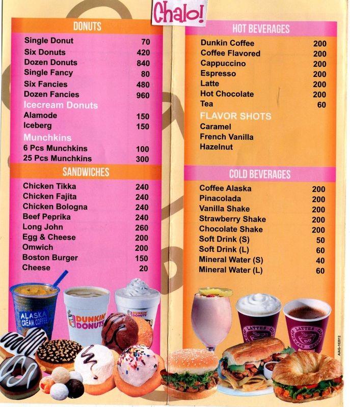 Dunkin Donuts Restaurant in Liberty Market Lahore - Menu ...