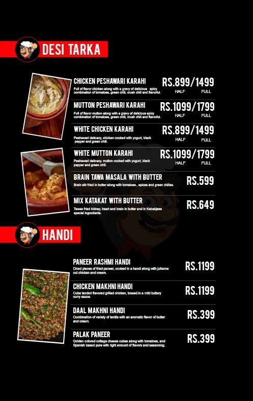 kababjees north nazimabad restaurant in karachi  menu