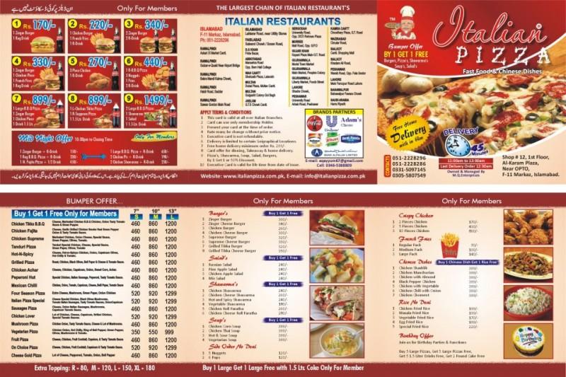 Italian Restaurants Delivery Near Me: Italian Pizza Restaurant In G-10 Markaz Islamabad