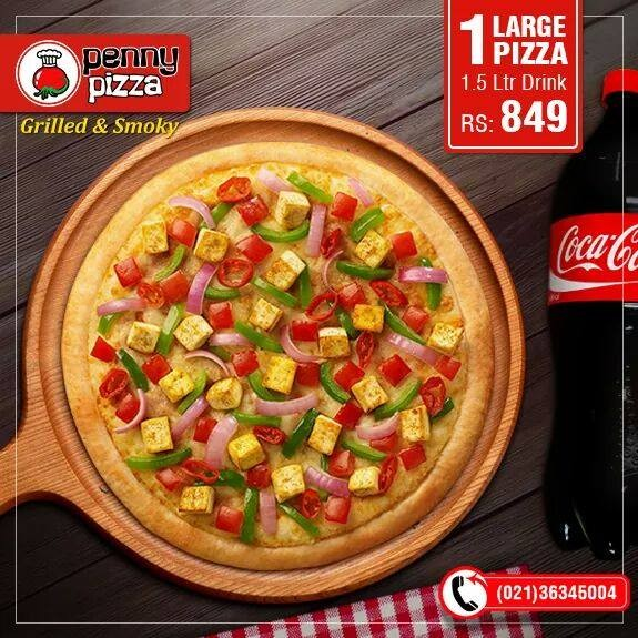 Penny Pizza Restaurant in FB Area Karachi - Menu, Timings, Contacts, Map