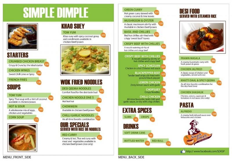 Simple Dimple, Tariq Road Restaurant In Karachi