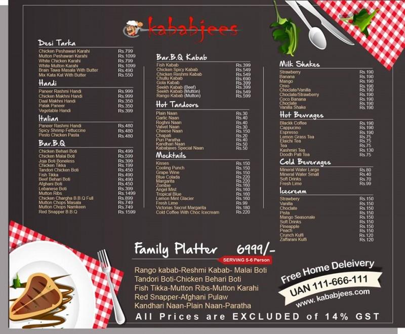 kababjees do darya restaurant in karachi  menu timings