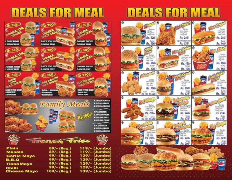 Burger Hut, Saddar Outlet 2 Restaurant in Karachi - Menu ...