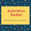 Ashrafus Sadat Name Meaning Of Most Noble Of The Sayyids