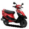 TVS Scooty Pep Plus-red