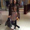 Hira Salman In Black English Dress