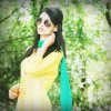 Gorgeous Anam Afzal in Yellow and Blue Dress