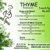 Thyme Lunch Special Menu