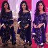 Cute Fatima Shah Jillani In Blue Dress