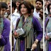 Cute Sadaf abdul jabbar in Purple Dress
