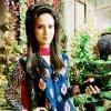 Cute Anam Afzal in Blue Dress