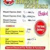 Biryani Express Menu Card 1