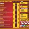 Pizza Express Menu Card 2