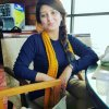 Gorgeous Summaya Rizwan in Yellow and Blue Dress