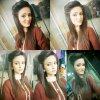 Cute Anam Afzal in Brown Dress