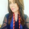 Beautiful Rabia Anam in BLue Dress