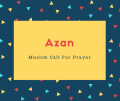 Azan Name Meaning Muslim Call For Prayer