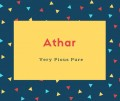 Athar Name Meaning Very Pious Pure