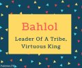 Bahlol Name Meaning Leader Of A Tribe, Virtuous King