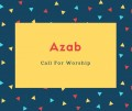 Azab Name Meaning Sword, Pleasant