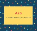 Aza Name Meaning In Hindu Meaning Is _ Comfort
