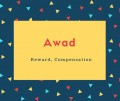 Awad Name Meaning Reward, Compensation