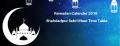 Ramadan Calender 2019 Shahdadpur Sehri Iftaar Time Table