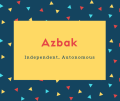 Azbak Name Meaning Independent, Autonomous