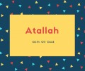 Atallah Name Meaning Gift Of God