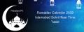 Ramadan Calendar 2019 Islamabad Sehri & Iftaar Timings