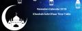 Ramadan Calender 2019 Khushab Sehri Iftaar Time Table