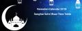 Ramadan Calender 2019 Sanghar Sehri Iftaar Time Table