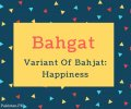 Bahgat Name Meaning Variant Of Bahjat- Happiness