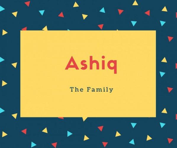 Ashiq Name Meaning Lover, Fancier