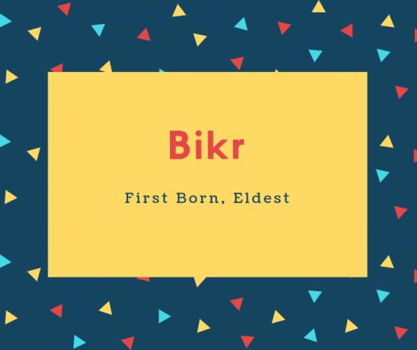 Bikr Name Meaning First Born, Eldest