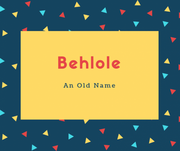 Behlole Name Meaning An Old Name