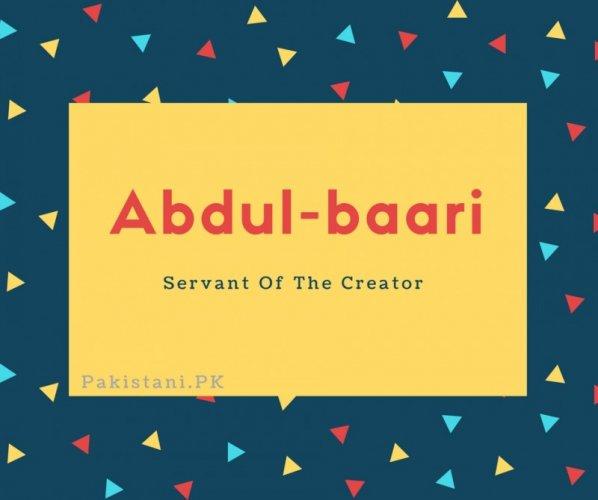 Abdul-baari