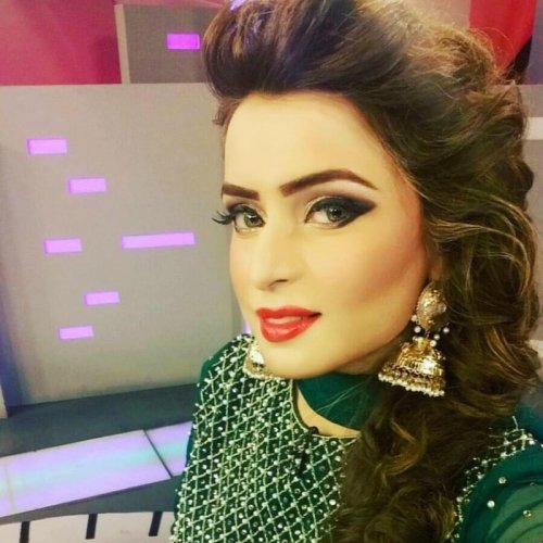 Gorgeous Ainee Junaid in Green Dress