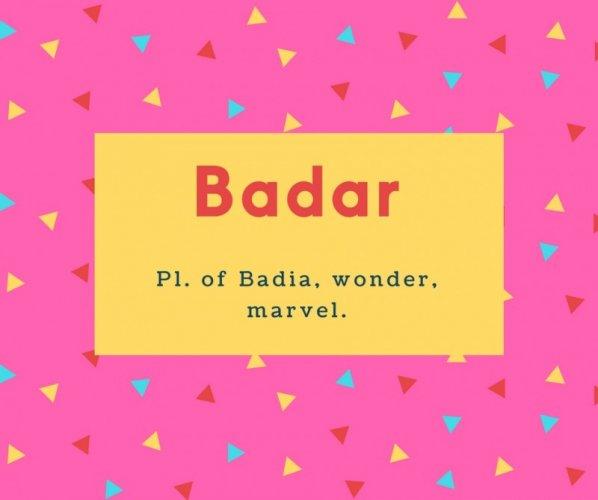 Badar Name Meaning Full Moon