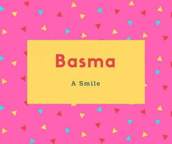 Basma Name Meaning A Smile