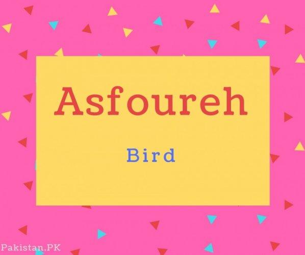Asfoureh name Meaning Bird.