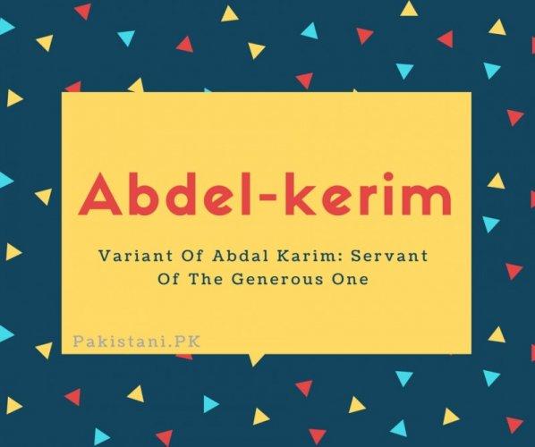 Abdel-kerim