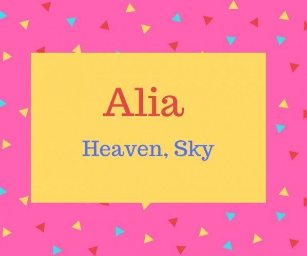 Alia Name Meaning Heaven, Sky