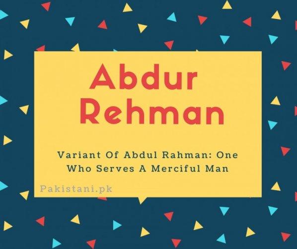abdur rehman name