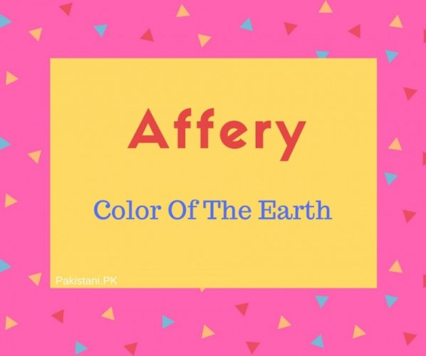 Affery name meaning Color Of The Earth.