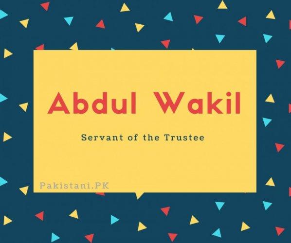 Abdul Wakil