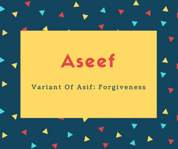 Aseef Name Meaning Variant Of Asif_ Forgiveness