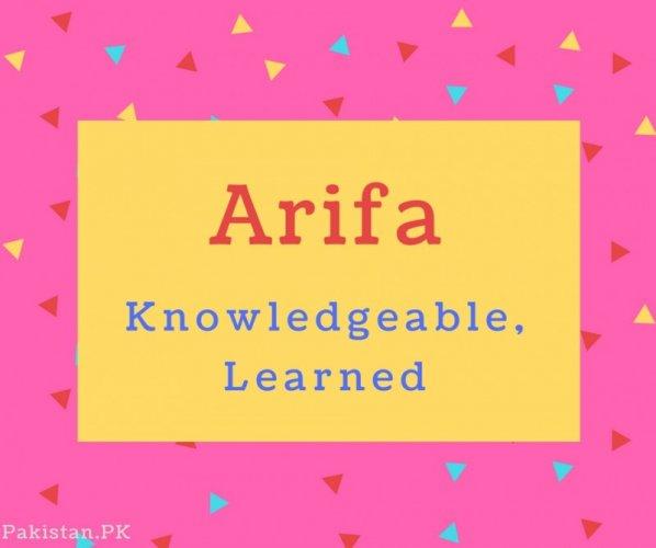 arifa name hd
