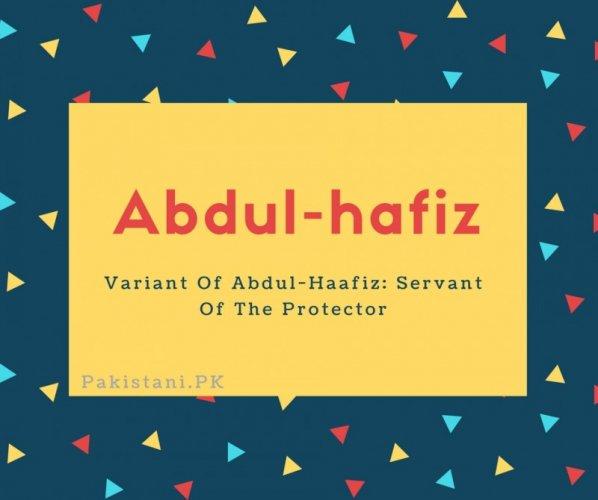 Abdul-hafiz